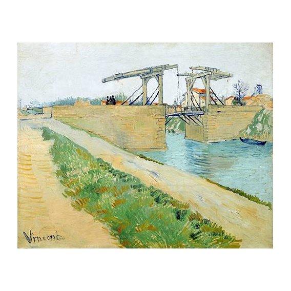 cuadros de paisajes - Cuadro -The Langlois bridge, 1888-