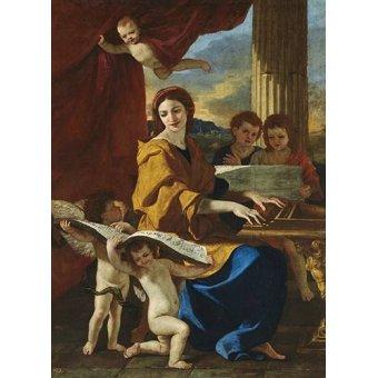 cuadros religiosos - Cuadro -Santa Cecilia- - Poussin, Nicolas