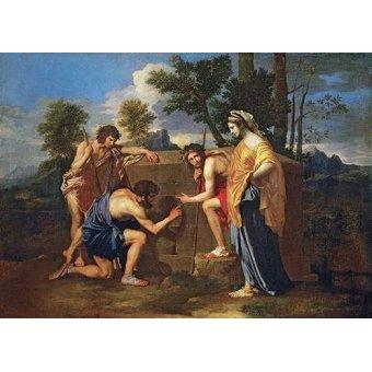 cuadros de retrato - Cuadro -Los Pastores de Arcadia ó - Et in Arcadia ego -- - Poussin, Nicolas
