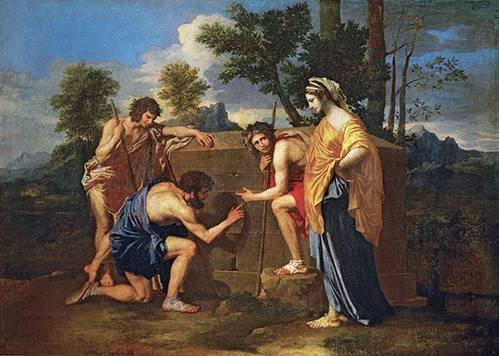 cuadros-de-retrato - Cuadro -Los Pastores de Arcadia ó - Et in Arcadia ego -- - Poussin, Nicolas