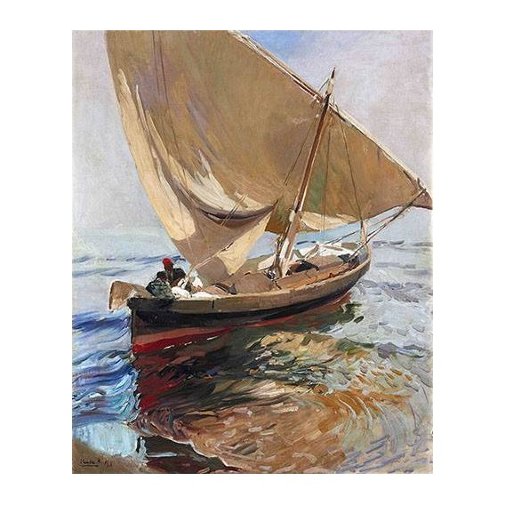 cuadros de marinas - Cuadro -Camino de la pesca, 1908-