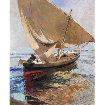 cuadros de marinas - Cuadro -Camino de la pesca, 1908- - Sorolla, Joaquin