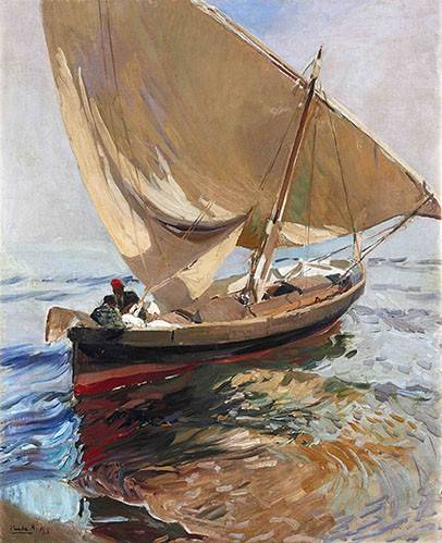cuadros-de-marinas - Cuadro -Camino de la pesca, 1908- - Sorolla, Joaquin