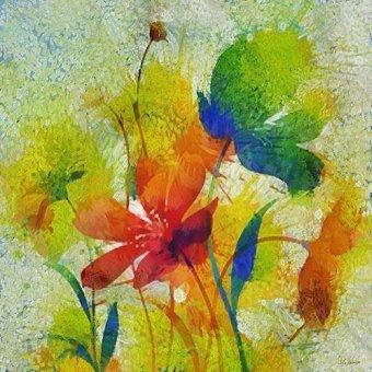 cuadros abstractos - Cuadro -Moderno CM8818- - Medeiros, Celito
