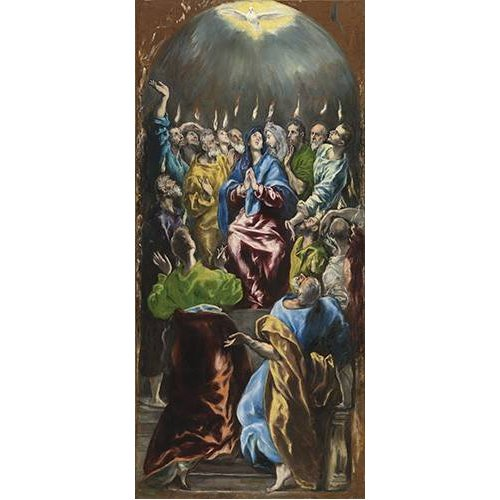 cuadros religiosos - Cuadro -Pentecostés, 1597-