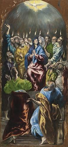 cuadros-religiosos - Cuadro -Pentecostés, 1597- - Greco, El (D. Theotocopoulos)