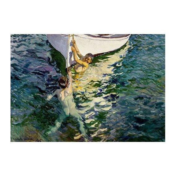 cuadros de retrato - Cuadro -El bote blanco-