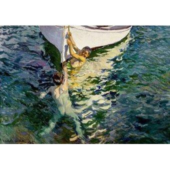 cuadros de retrato - Cuadro -El bote blanco- - Sorolla, Joaquin