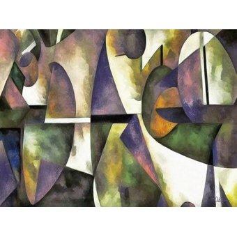 cuadros abstractos - Cuadro -Moderno CM6676- - Medeiros, Celito