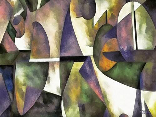 cuadros-abstractos - Cuadro -Moderno CM6676- - Medeiros, Celito