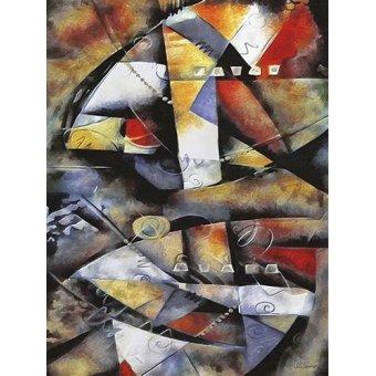 cuadros abstractos - Cuadro -Moderno CM6706- - Medeiros, Celito