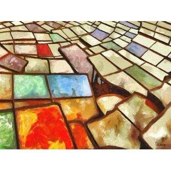 cuadros abstractos - Cuadro -Moderno CM6766- - Medeiros, Celito