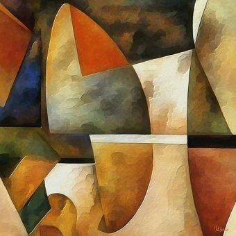 cuadros abstractos - Cuadro -Moderno CM8884- - Medeiros, Celito
