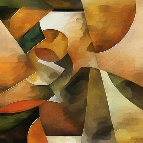 cuadros-abstractos - Cuadro -Moderno CM8888- - Medeiros, Celito