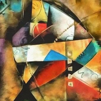 cuadros abstractos - Cuadro -Moderno CM9004- - Medeiros, Celito