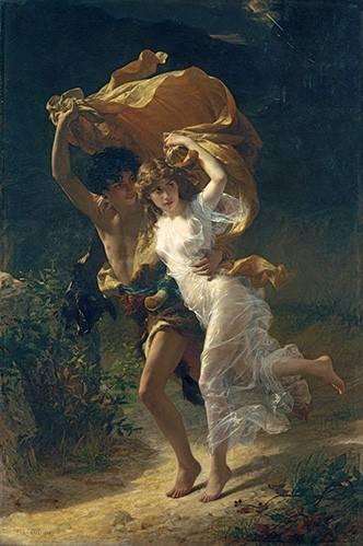 cuadros-de-retrato - Cuadro -The Storm, 1880- - Cot, Pierre-Auguste