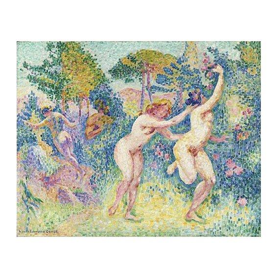 cuadros de desnudos - Cuadro -La Fuite Des Nymphes-