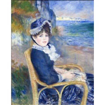 - Cuadro -By the Seashore, 1883- - Renoir, Pierre Auguste
