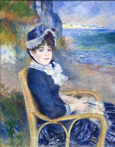 cuadros-de-retrato - Cuadro -By the Seashore, 1883- - Renoir, Pierre Auguste