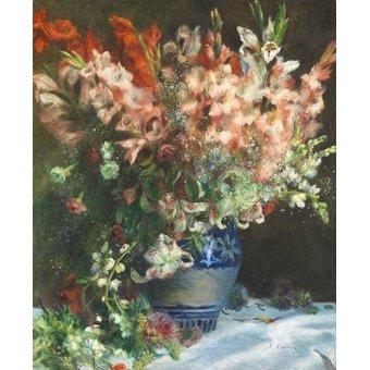 - Cuadro -Gladiolos en un Jarron- - Renoir, Pierre Auguste