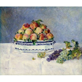 - Cuadro -Still Life with Peaches and Grapes, 1881- - Renoir, Pierre Auguste