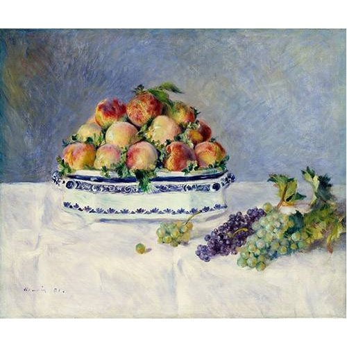 Cuadro -Still Life with Peaches and Grapes, 1881-