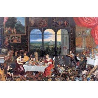 - Cuadro -El gusto, el oido y el tacto- - Bruegel