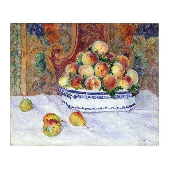 cuadros de bodegones - Cuadro -Still Life with Peaches, 1881-