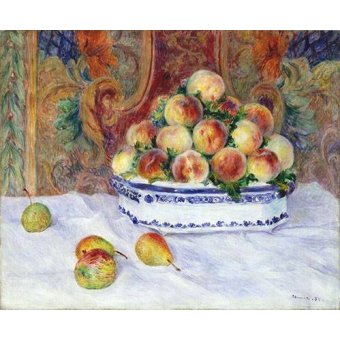 - Cuadro -Still Life with Peaches, 1881- - Renoir, Pierre Auguste