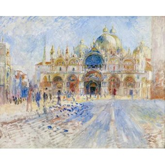 - Cuadro -La Plaza de San Marco, Venecia- - Renoir, Pierre Auguste