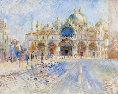 cuadros-de-paisajes - Cuadro -La Plaza de San Marco, Venecia- - Renoir, Pierre Auguste