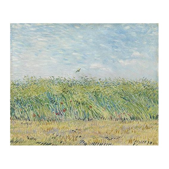 cuadros de paisajes - Cuadro -Wheatfield with Partridge,1887-