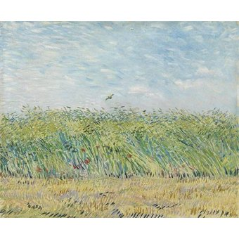 - Cuadro -Wheatfield with Partridge,1887- - Van Gogh, Vincent