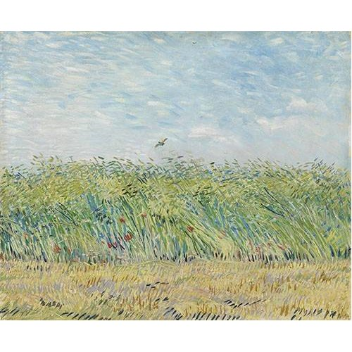 Cuadro -Wheatfield with Partridge,1887-