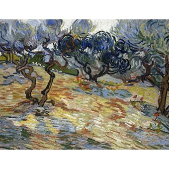 - Cuadro -Olive Trees, 1889- - Van Gogh, Vincent