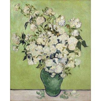 cuadros de flores - Cuadro -Vase of Roses, 1890- - Van Gogh, Vincent