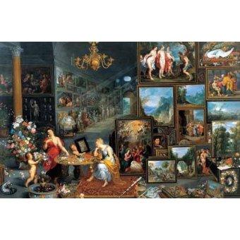 - Cuadro -La vista y el olfato- - Bruegel