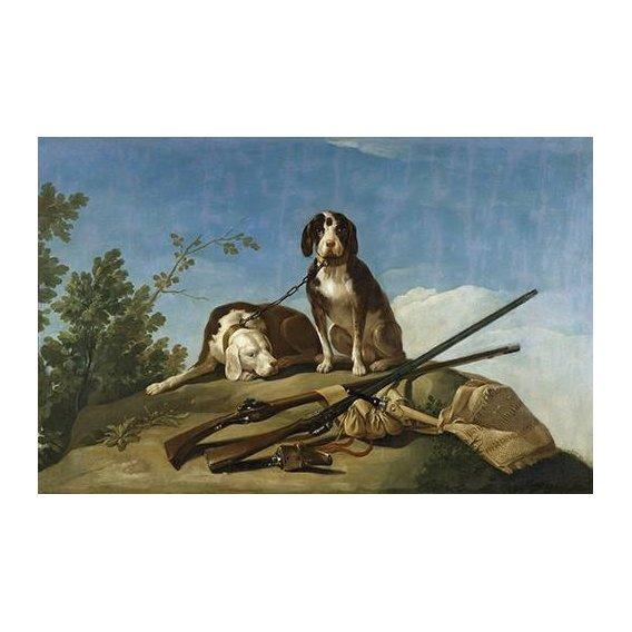 cuadros de fauna - Cuadro -Perros en trailla, 1775_(caza)-