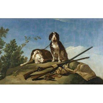 - Cuadro -Perros en trailla, 1775_(caza)- - Goya y Lucientes, Francisco de