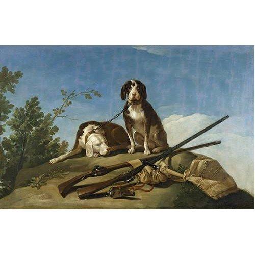 Cuadro -Perros en trailla, 1775_(caza)-