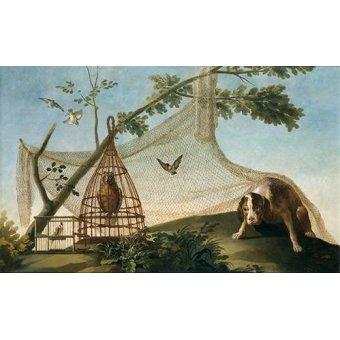 cuadros de fauna - Cuadro -Caza con reclamo- - Goya y Lucientes, Francisco de