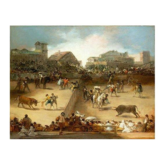 cuadros de fauna - Cuadro -Corrida de toros en una plaza partida-
