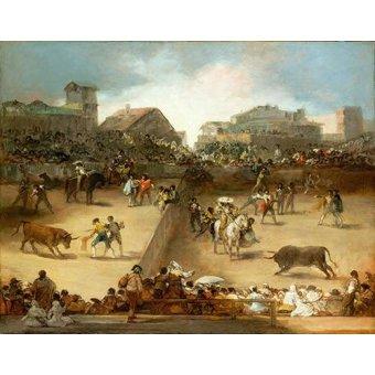 - Cuadro -Corrida de toros en una plaza partida- - Goya y Lucientes, Francisco de