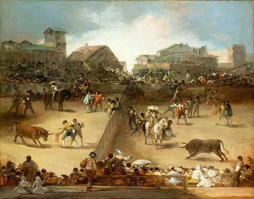 cuadros-de-fauna - Cuadro -Corrida de toros en una plaza partida- - Goya y Lucientes, Francisco de