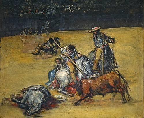 cuadros-de-fauna - Cuadro -Corrida de toros- - Goya y Lucientes, Francisco de