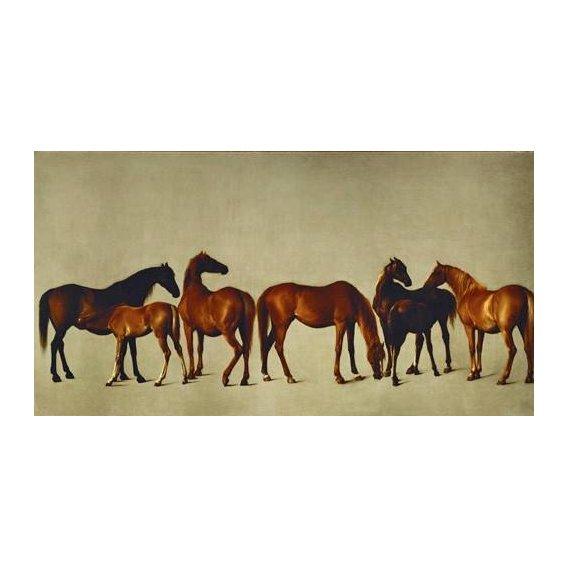 cuadros de fauna - Cuadro -Mares and Foals- (caballos)