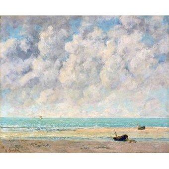 cuadros de marinas - Cuadro -El mar en calma- - Courbet, Gustave