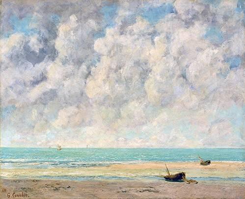 cuadros-de-marinas - Cuadro -El mar en calma- - Courbet, Gustave