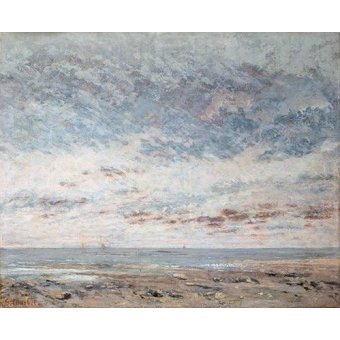cuadros de marinas - Cuadro -Marea baja en Trouville, 1865- - Courbet, Gustave