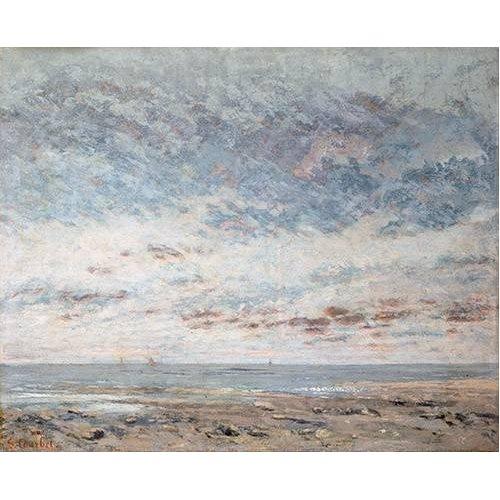 cuadros de marinas - Cuadro -Marea baja en Trouville, 1865-